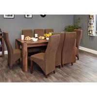 Shiro Walnut Dining Table Rustic
