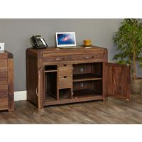 Shiro Walnut Hidden Home Office by Baumhaus Furniture