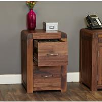 Shiro Walnut Two Drawer Filing Cabinet by Baumhaus Furniture