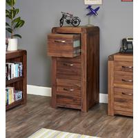 Shiro Walnut 3 Drawer Filing Cabinet by Baumhaus Furniture