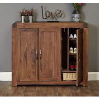 Shiro Walnut Large Shoe Cupboard