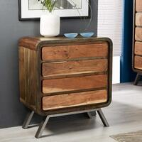 Aspen 4 Drawer Retro Indian Chest Reclaimed