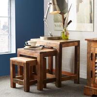 Coastal Nest of Tables Reclaimed Wood