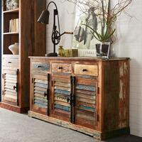 Coastal 3 door 3 drawer sideboard by Icona Furniture
