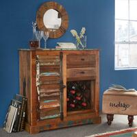 Coastal Wine Rack Sideboard  by Indian Hub