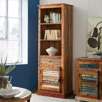 Coastal Narrow Bookcase by Indian Hub