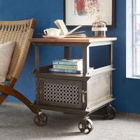 Evoke Side Table Reclaimed Wood and Metal