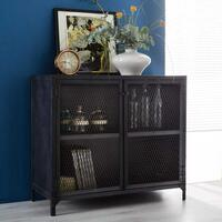 Metalica Iron Small Sideboard by Indian Hub