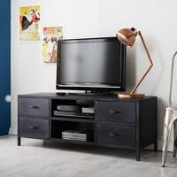 Metalica Reclaimed Iron TV Unit