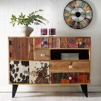 Sorio 3 Door 4 Drawer Quirky Sideboard Reclaimed