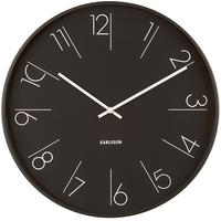 Karlsson Elegant Numbers Clock - Black