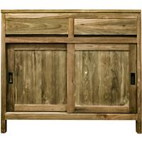 Reclaimed wood cabinet with sliding doors - The Kali