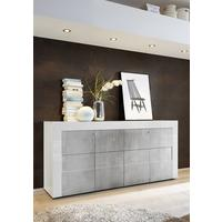 Napoli Four Door Sideboard - Gloss White/Grey Finish