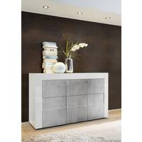 Napoli Three Door Sideboard - White Gloss/Grey Finish