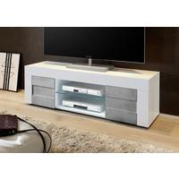 Napoli  Small TV Unit - Gloss White/Grey finish by Andrew Piggott Contemporary Furniture