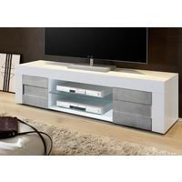 Napoli Large TV Stand - Gloss White/Grey finish