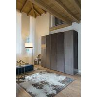 Elysee 5 door (wood and fabric) wardrobe by Icona Furniture