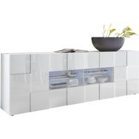 Treviso Long Sideboard - Two Doors/Four Drawers White High Gloss by Andrew Piggott Contemporary Furniture