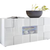 Treviso Sideboard - Two Doors/Two Drawers High Gloss White Finish