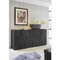 Treviso Sideboard - Three Doors High Gloss Grey Finish by Andrew Piggott Contemporary Furniture