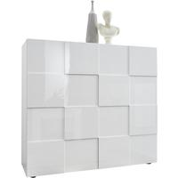 Treviso Two Door High Sideboard - Gloss White Finish