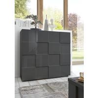 Treviso Two Door High Sideboard - Gloss Grey Finish