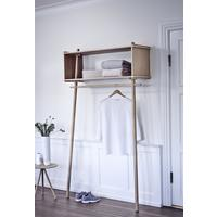 Woud Tojbox Large Clothes Rail/Storage - Treated Oak/Black Painted Oak
