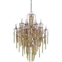 Large Tassled Chandelier French Style Iron and Glass