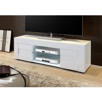 Napoli Small TV Unit - Gloss White by Andrew Piggott Contemporary Furniture