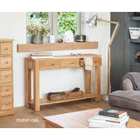 Mobel Solid Oak Modern Console Table 3 Drawers