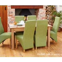 Mobel Solid Oak Modern Dining Table 150cm - 4/6 Seater