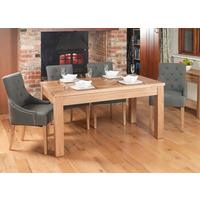 Mobel Extending Solid Oak Dining Table - Seats 4-8