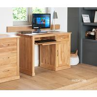 Mobel Oak Single Pedestal Modern Computer Desk