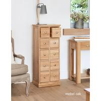 Mobel Oak Multi-Drawer DVD / CD Storage Chest by Baumhaus Furniture