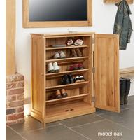 Mobel Oak Large Shoe Cupboard Contemporary