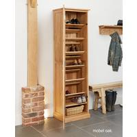 Mobel Oak Tall Shoe Cupboard Modern Design