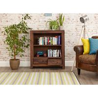 Mayan Walnut Low Bookcase Rustic