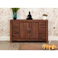 Mayan Walnut Six Drawer Sideboard by Baumhaus Furniture