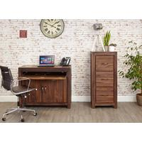 Mayan Walnut Hidden Home Office Desk