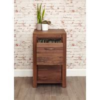 Mayan Walnut 2 Drawer Filing Cabinet Rustic
