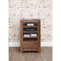 Mayan Walnut Entertainment Unit 1 Drawer 4 Shelves