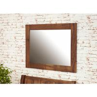 Mayan Walnut Medium Mirror by Baumhaus Furniture