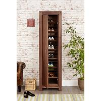 Mayan Walnut Tall Shoe Cupboard Rustic