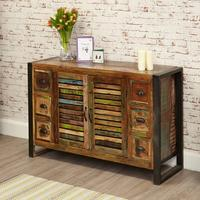 Urban Chic Sideboard 6 Drawer 2 Door Reclaimed Timber