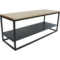 Ertivi 120  TV Stand - Oak and Black Finish by Andrew Piggott Contemporary Furniture