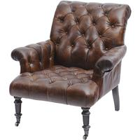 Fitzgerald Vintage Brown Leather Armchair