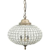 Oval Crystal Effect Brass Chandelier Medium Leaf Decoration Band by The Libra Company