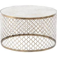 Quatrefoil Round Coffee Table Mirror Top