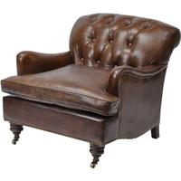 Preston Vintage Light Brown Leather Armchair by The Libra Company
