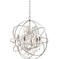 Chesterford Small Nickel Globe Chandelier E14 40W by The Libra Company